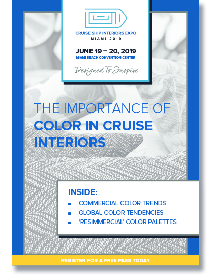 The importance of color in cruise interiors